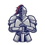 Mascota del caballero del guerrero stock de ilustración