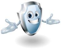 Mascota del carácter de la seguridad del blindaje Imágenes de archivo libres de regalías