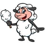 Mascota del caramelo de algodón libre illustration