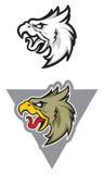 Mascota del deporte de Eagle label logotipo stock de ilustración