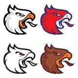 Mascota del deporte de Eagle label logotipo libre illustration