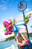 Mascota del embarcadero del pueblo pesquero de Bao de la explosión Fotos de archivo libres de regalías