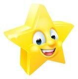 Mascota del Emoticon de Emoji de la estrella Fotografía de archivo