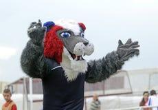 Mascota del fútbol Imagen de archivo