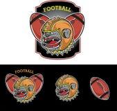 Mascota del fútbol Imagen de archivo libre de regalías