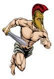 Mascota del gladiador Foto de archivo libre de regalías