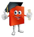 Mascota del libro de la graduación ilustración del vector