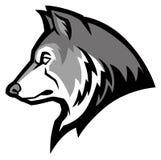 Mascota del lobo ilustración del vector
