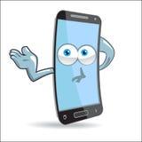 Mascota del móvil de la célula del vector Fotos de archivo libres de regalías