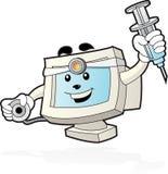 Mascota del ordenador - doctor Fotos de archivo libres de regalías