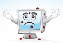 Mascota del ordenador - infectada Fotografía de archivo