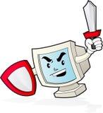 Mascota del ordenador - seguridad Fotografía de archivo