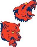 Mascota del perro salvaje que gruñe ilustración del vector