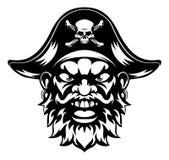 Mascota del pirata de la historieta Imagenes de archivo