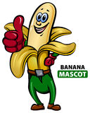 Mascota del plátano ilustración del vector