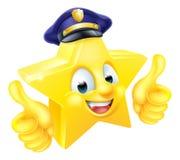 Mascota del policía de la estrella Foto de archivo