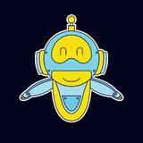 Mascota del robot de la sonrisa libre illustration