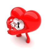 Mascota en forma de corazón que se abre Imagen de archivo