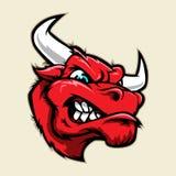 Mascota enojada de la cabeza del toro Fotografía de archivo
