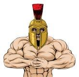 Mascota espartano o troyana fuerte Imágenes de archivo libres de regalías