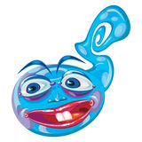Mascota extranjera azul de la historieta de la criatura Imagenes de archivo