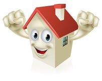 Mascota feliz de la casa de la historieta Foto de archivo