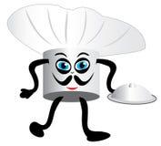 Mascota feliz del sombrero del cocinero ilustración del vector