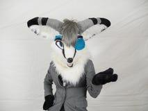 Mascota hecha a mano de Halloween del traje peludo asombroso Foto de archivo libre de regalías