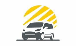 Mascota logística del logotipo de Van transportation Fotografía de archivo libre de regalías