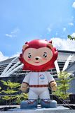 Mascota Nila Red Lion de Singapur del SEA games Imagenes de archivo