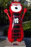 Mascota olímpica de Londres 2012 Imagen de archivo libre de regalías