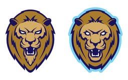 Mascota principal del león, versión coloreada Grande para los logotipos de los deportes y las mascotas del equipo de la universid ilustración del vector