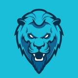 Mascota principal del león, versión coloreada Grande para los logotipos de los deportes y las mascotas del equipo de la universid stock de ilustración