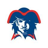 Mascota principal del pirata stock de ilustración