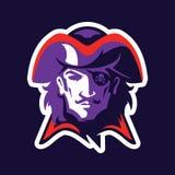 Mascota principal del pirata ilustración del vector
