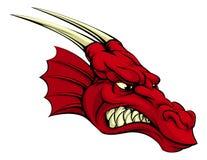 Mascota roja del dragón Imagen de archivo libre de regalías