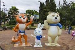 Mascotas de los Juegos Olímpicos 2014 Fotografía de archivo libre de regalías