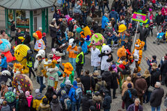 """Mascotas Desfile-Nuremberg 2016 del € de Toon Walkâ """" Foto de archivo libre de regalías"""
