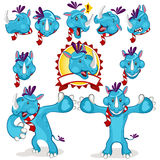 Mascote bonito do rinoceronte Imagem de Stock