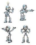 Mascote bonito do robô dos desenhos animados Fotografia de Stock Royalty Free