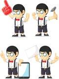 Mascote customizável 11 do menino do lerdo Fotos de Stock Royalty Free