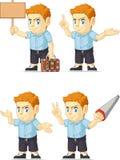 Mascote customizável vermelha 3 do menino principal Imagens de Stock