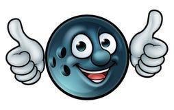Mascote da bola de boliches ilustração royalty free