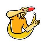 Mascote da bola da quebra do jogador de tênis de mesa Fotografia de Stock Royalty Free