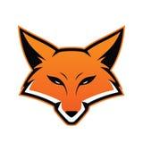 Mascote da cabeça do Fox ilustração stock