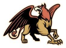 Mascote da criatura da mitologia do grifo ilustração stock