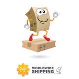 Mascote da entrega Vetor do projeto de conceito do transporte Imagem de Stock