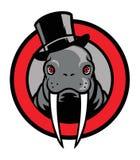 Mascote da morsa Fotos de Stock Royalty Free