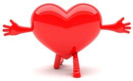 Mascote dada forma coração Foto de Stock Royalty Free