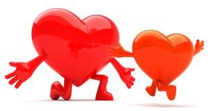 Mascote dada forma coração Imagens de Stock Royalty Free